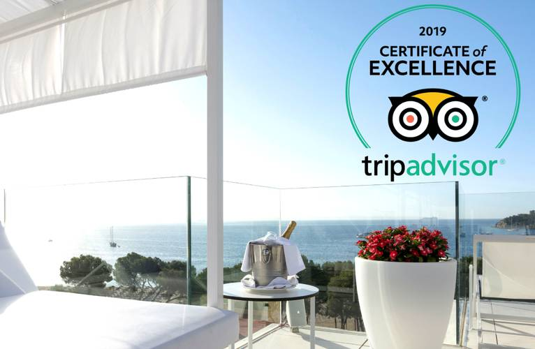 TripAdvisor Certificate of Excellence awarded to  MSH Senses Palmanova and MSH Senses Santa Ponsa MSH Mallorca Senses Hotels